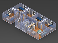 The Quads 3D Room Layout