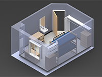 South Tower 3D Room Layout