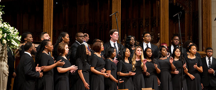 LU Praise performing at  Inaugural National Prayer Service
