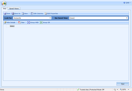 CRM Advanced Find Screenshot