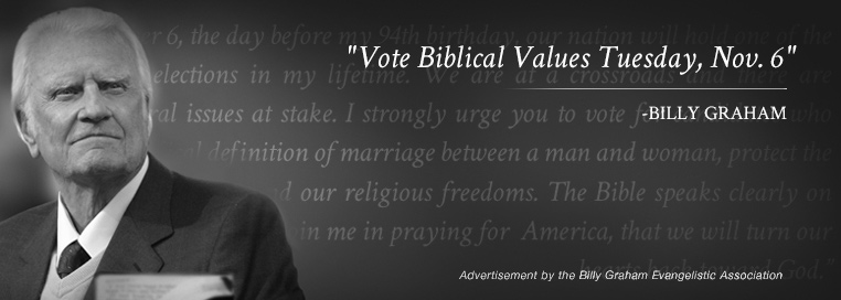 Vote Biblical Values Tuesday, Nov. 6