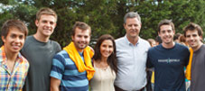 Jerry Falwell Jr. and Becki Falwell with students