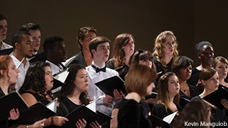 A Liberty University concert choir.