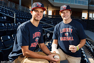 Zach Clinton (left) and Josh Barrick