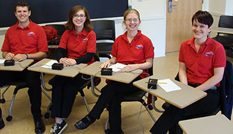 Liberty University's 2013 Varsity A Quiz Bowl Team.