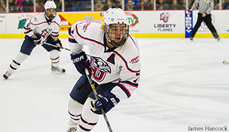 Liberty Flames hockey player Jackson Kuhn