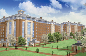 Artist's rendering of Liberty University high-rise residence hall.