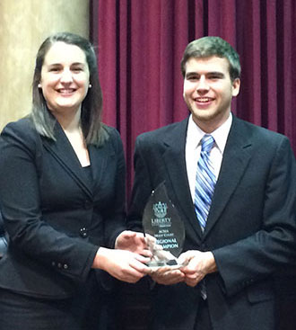 Liberty moot court team wins first place at ACMA competition.