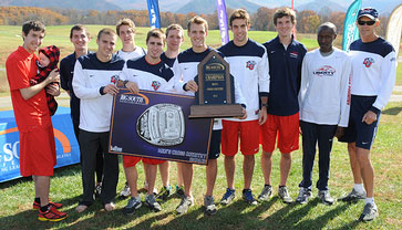 Liberty University's men's cross country wins ninth Big South Conference title.
