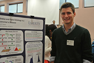 Liberty student Michael Carson at the VAS Fall Meeting.
