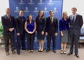 Liberty University's moot court team
