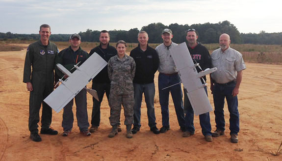 Liberty aeronautics students undergo UAS training.
