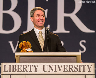 Ken Cuccinelli speaks at Liberty University Convocation.