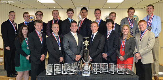 Liberty University's flight team receieved several awards at the regional NIFA competition.