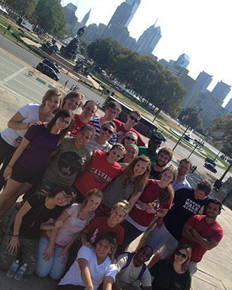 Liberty University students serve in Philadelphia.