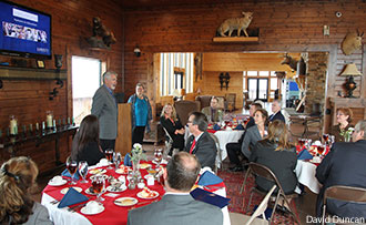 Superintendent's Luncheon at the Barrick-Falwell Lodge at Liberty Mountain Snowflex Centre.