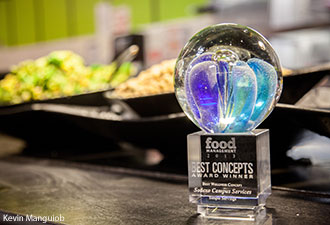 The Best Wellness Concept award that was presented to Sodexo for its Simple Servings station at Liberty University.