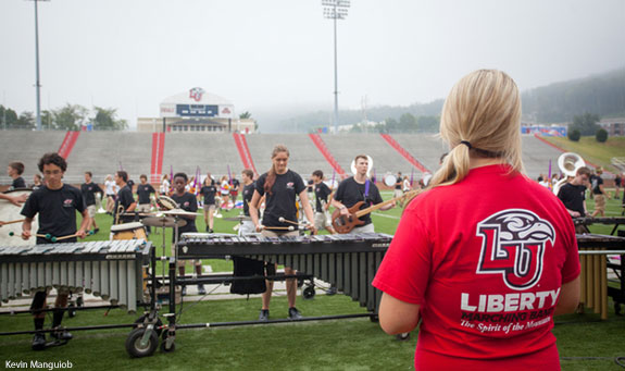 The Liberty University Marching Band,