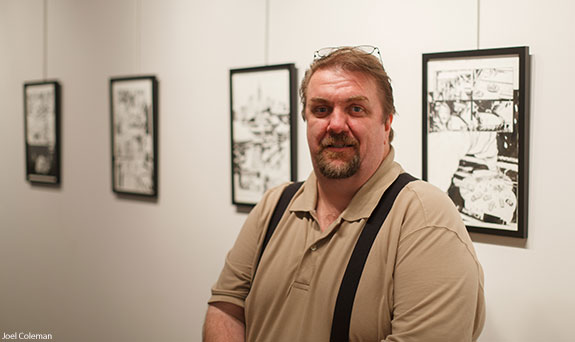 Comic book artist Lee Weeks opens an exhibition in the Liberty University Art Gallery.