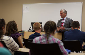 Former Virginia Gov. Bob McDonnell teaches the Government 340 International Relations course at the Liberty University Helms School of Government.
