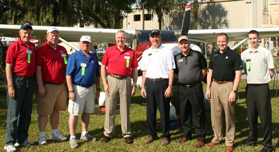 Liberty University School of Aeronautics staff join members of Textron Aviation at the 2014 SUN 'n FUN International Fly-in & Expo being held this week in Lakeland, Fla.