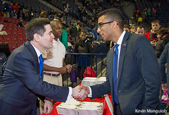 Russell Moore meets with Liberty students and signs copies of his book after Convocation.