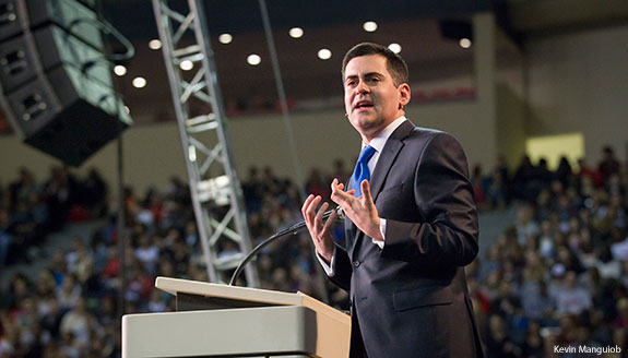 Russell Moore speaks at Liberty University Convocation.