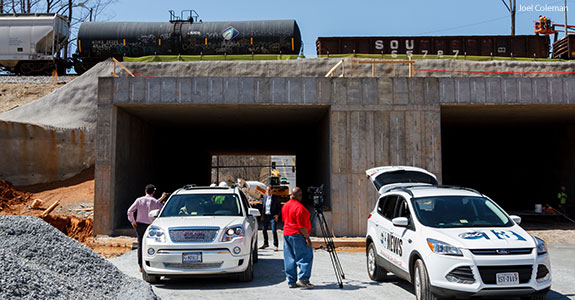 Liberty's new vehicular tunnel will replace a campus railway crossing.