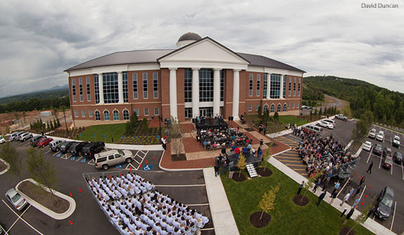 Liberty University holds a dedication for its new Center for Medical and Health Sciences.