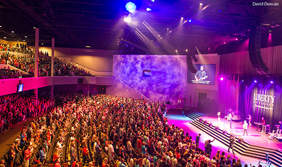 Freshman Convocation held at Liberty University on Aug. 15, 2014.
