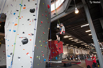 LaHaye Recreation and Fitness Center features a 4,000-foot climbing area.
