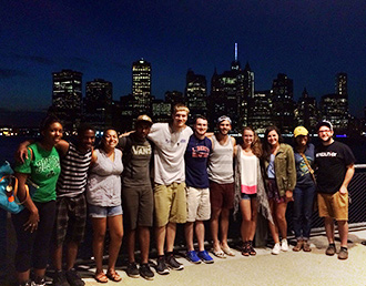 Liberty University students on a service trip to Brooklyn.
