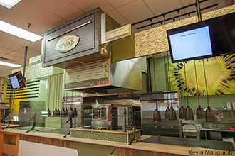 Newly expanded Simple Servings station at Reber-Thomas Dining Hall.