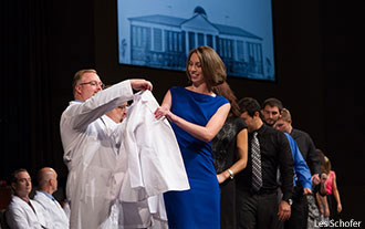 Liberty medical students receive their white coats.