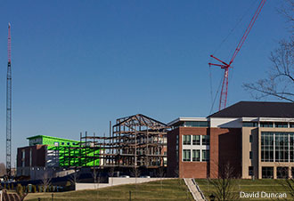 New School of Music building construction is well under way at Liberty University.