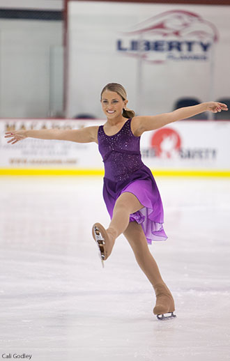 Liberty's Katie Scuilla skates in the Intercollegiate Sectionals Competition.