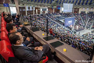 A delegation from China at Liberty University Convocation.