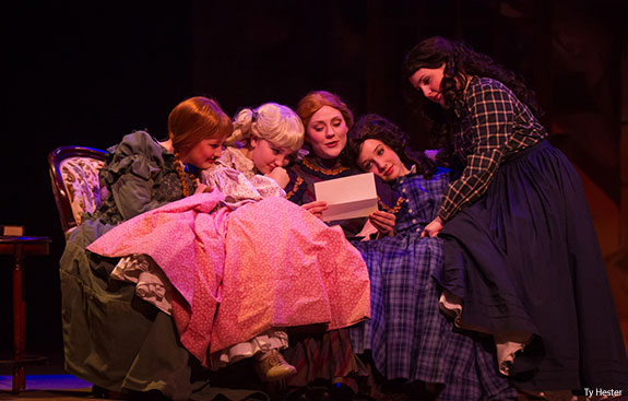 A scene from Little Women at Liberty University.