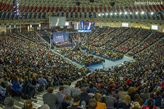 The Convocation crowd at Liberty University on Dec. 4, 2013.