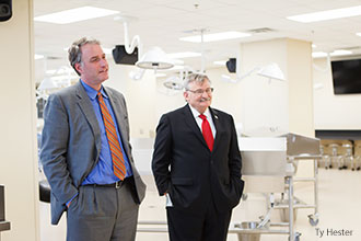 Congressman Hurt visits Liberty University's Anatomy Lab in the Center for Medical and Health Sciences.