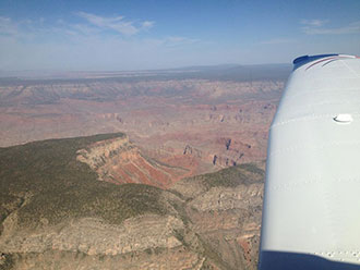 Overhead view of the Grand Canyon en route to California for the Air Race Classic.