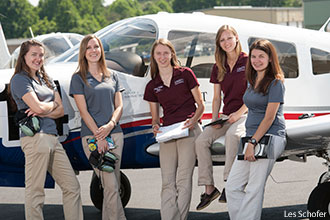 Liberty Belles at Freedom Jet Center before leaving for the Air Race Classic.