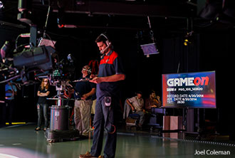 LFSN staff work behind-the-scenes during the filming of the