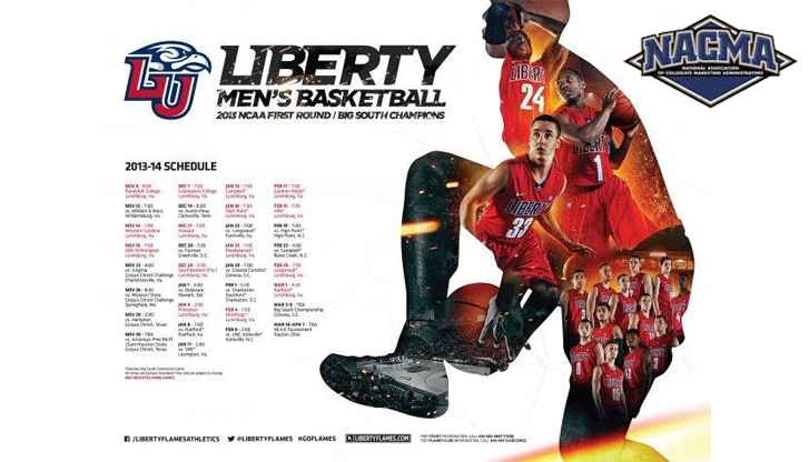Liberty University's 2013-14 Men's Basketball poster