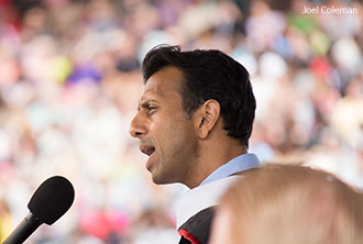 Lousiana Gov. Bobby Jindal speaks at Liberty's 2014 Commencement Ceremony.