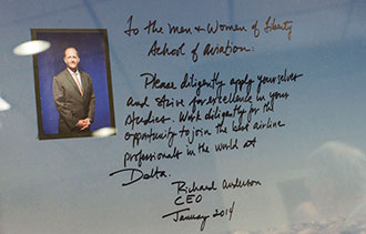 A personal message from the CEO of Delta to Liberty University aeronautics students.