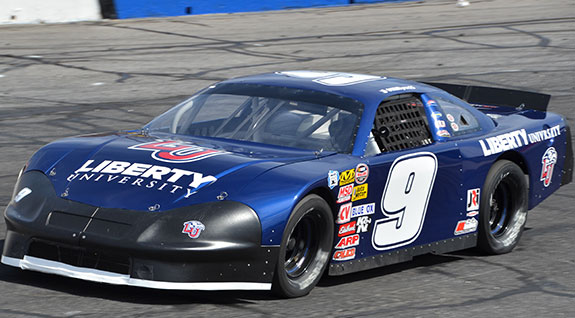 The JR Motorsports No. 9 Liberty University new model racecar.