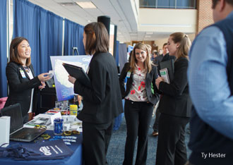 School of Business Career Fair helps students network with a broad range of employers.