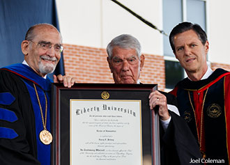 Del. Putney is honored by Liberty University on May 10, 2014.