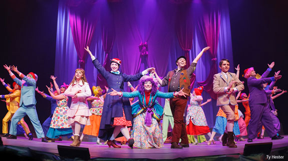 Alluvion Stage performs Mary Poppins at Tower Theater in April 2014.